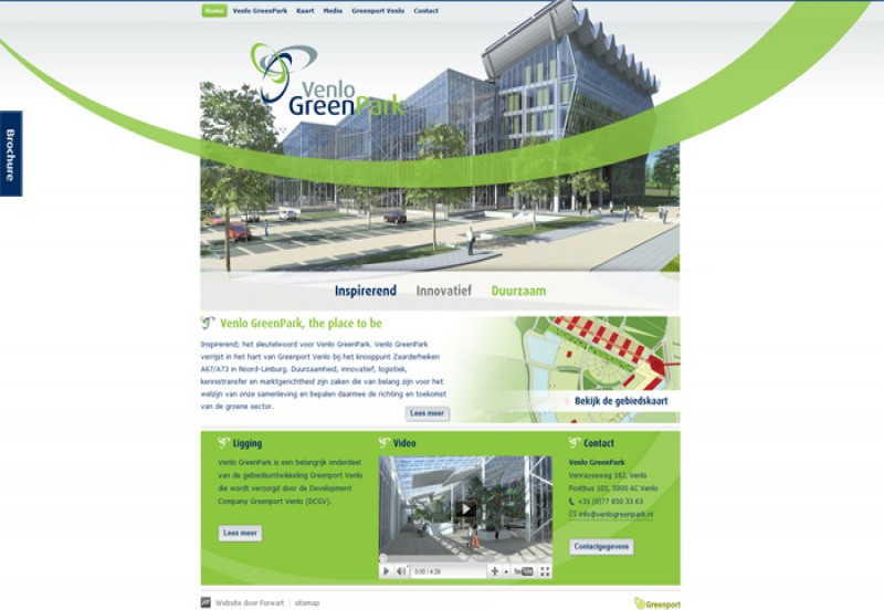 Venlo Greenpark homepage
