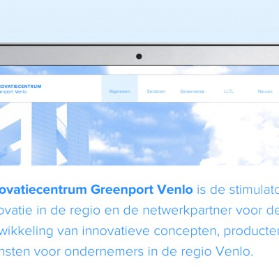 Homepage website Innovatiecentrum Greenport Venlo