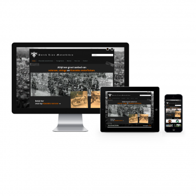 Responsive website Dutch Lion Motorbikes