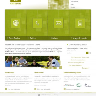 GreenBrains homepage