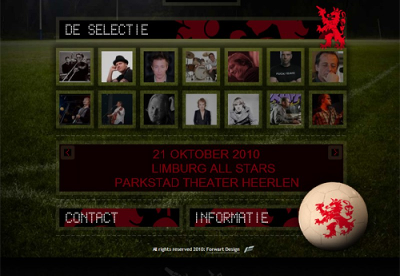 Website Limburg All Stars 1