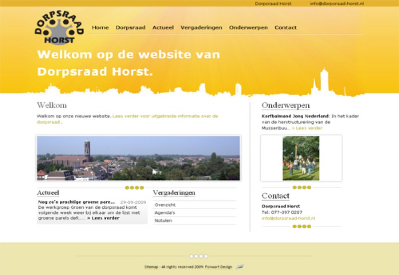 Website Dorpsraad Horst 1
