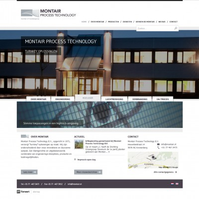Homepage Montair Process Technology B.V.