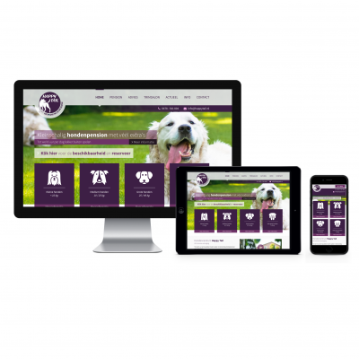 Responsive website - Happy Tail
