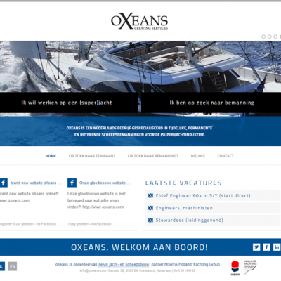 Homepage website oXeans