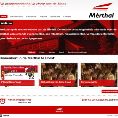 Homepage website De Mèrthal