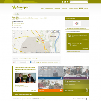 Website Greenport Venlo - Agenda