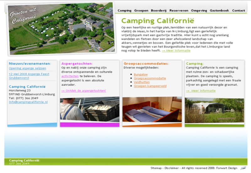 Website Camping Californië 1
