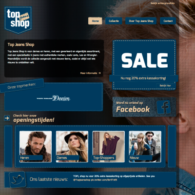 Homepage Top Jeans Shop
