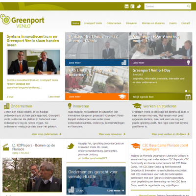 Website Greenport Venlo - Homepage