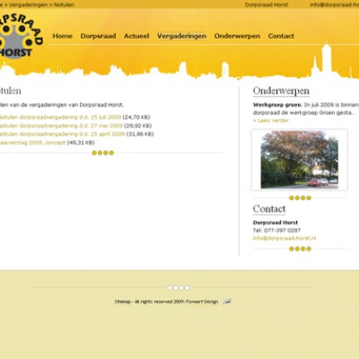 Website Dorpsraad Horst 2