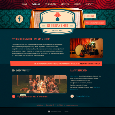 Website De Huijskamer Events