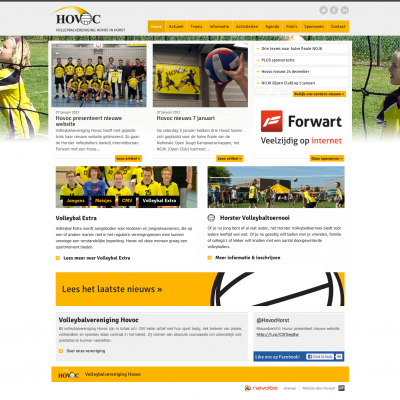 Homepage website Hovoc